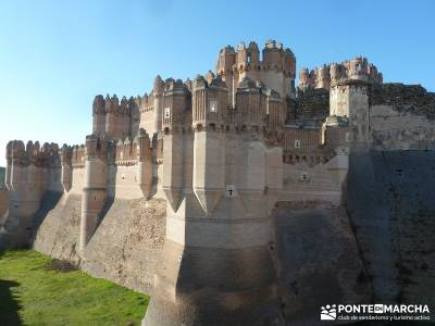Castillos de Cuellar y Coca - Arte Mudéjar;jerte en flor cerezos en flor jerte viajes enero